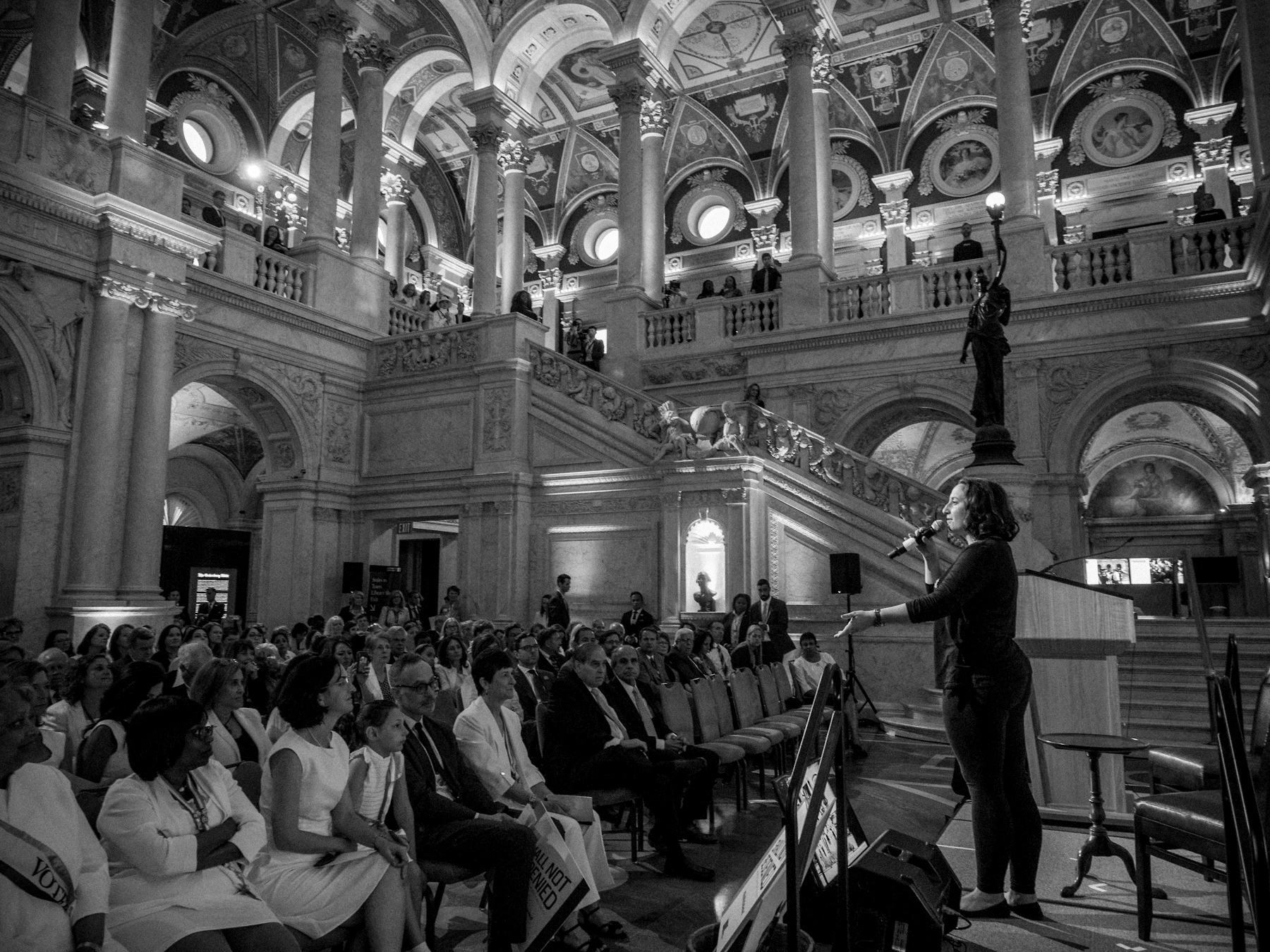 Image of Katie singing at Library of Congress
