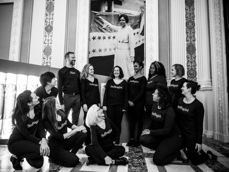 Image of Katie with ensemble of 19 at Library of Congress